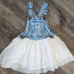 OshKosh toddler girl overall sparkle tutu